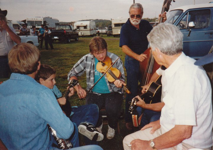 Greg Hooven, Tommy Barr Fiddle, Mt. Airey Fiddlers, ~ 1995